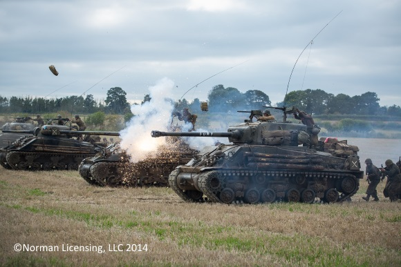 The Beetfield Battle with the Fury Tank in Columbia Pictures' FURY.